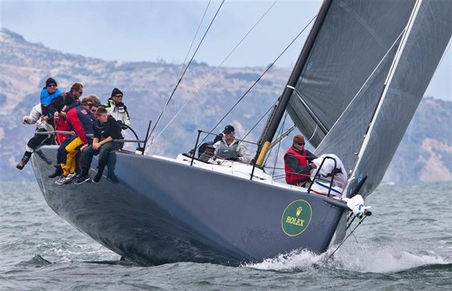 Manouch and crew at the 2012 Big Boat Series. Image © Daniel Forster