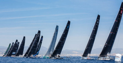 A TP52 start at the 2015 Worlds in Puerto Portals, Mallorca. Imagine a sight like this on the West Coast!